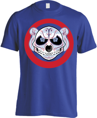 Chicago Cubs Baseball Logo Skull