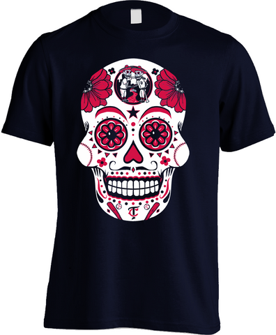 Minnesota Baseball Sugar Skull