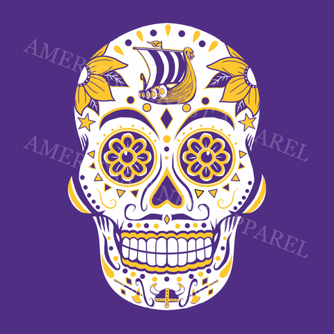 Minnesota Vikings Football Sugar Skull