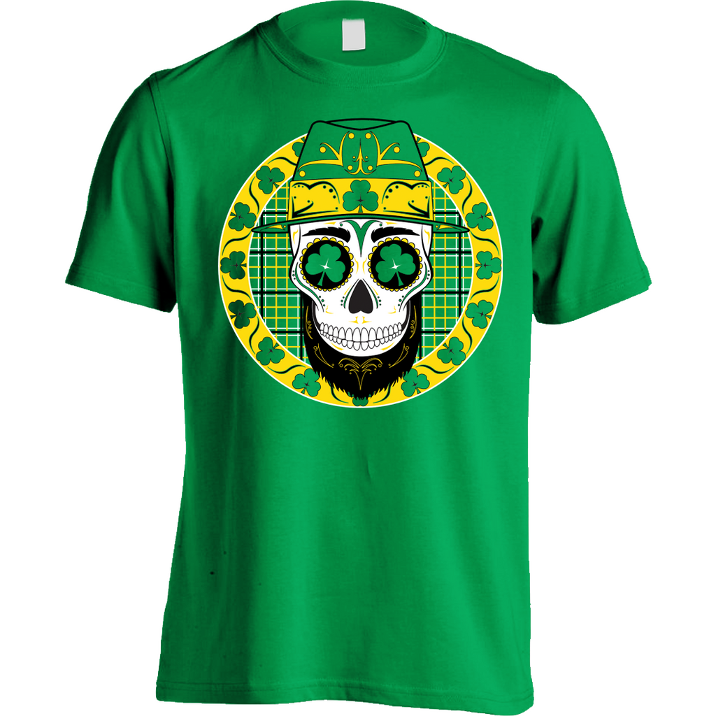Leprechaun Sugar Skull Shirt Yantz Irish Celtic Notre Dame - Mens