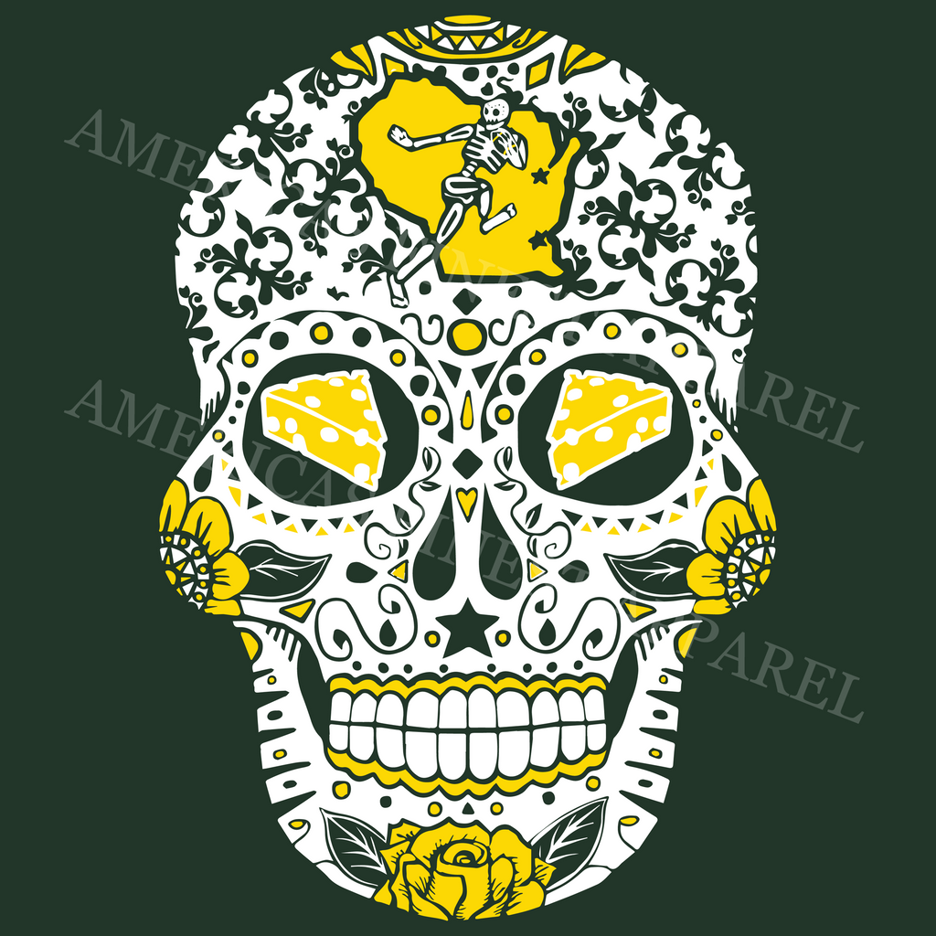 wisconsin sugar skull america s finest apparel