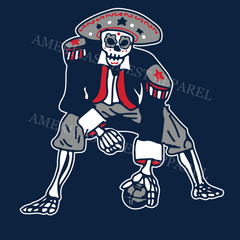 Patriot Football Skeleton