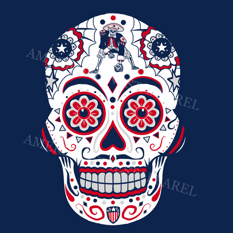 New England Inspired Sugar Skull