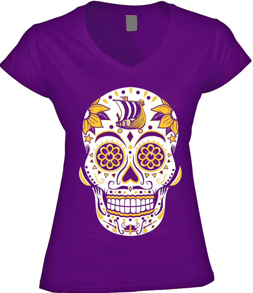 Minnesota Football Sugar Skull – America s Finest Apparel 037fe6b4c