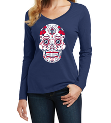 New York Baseball Sugar Skull