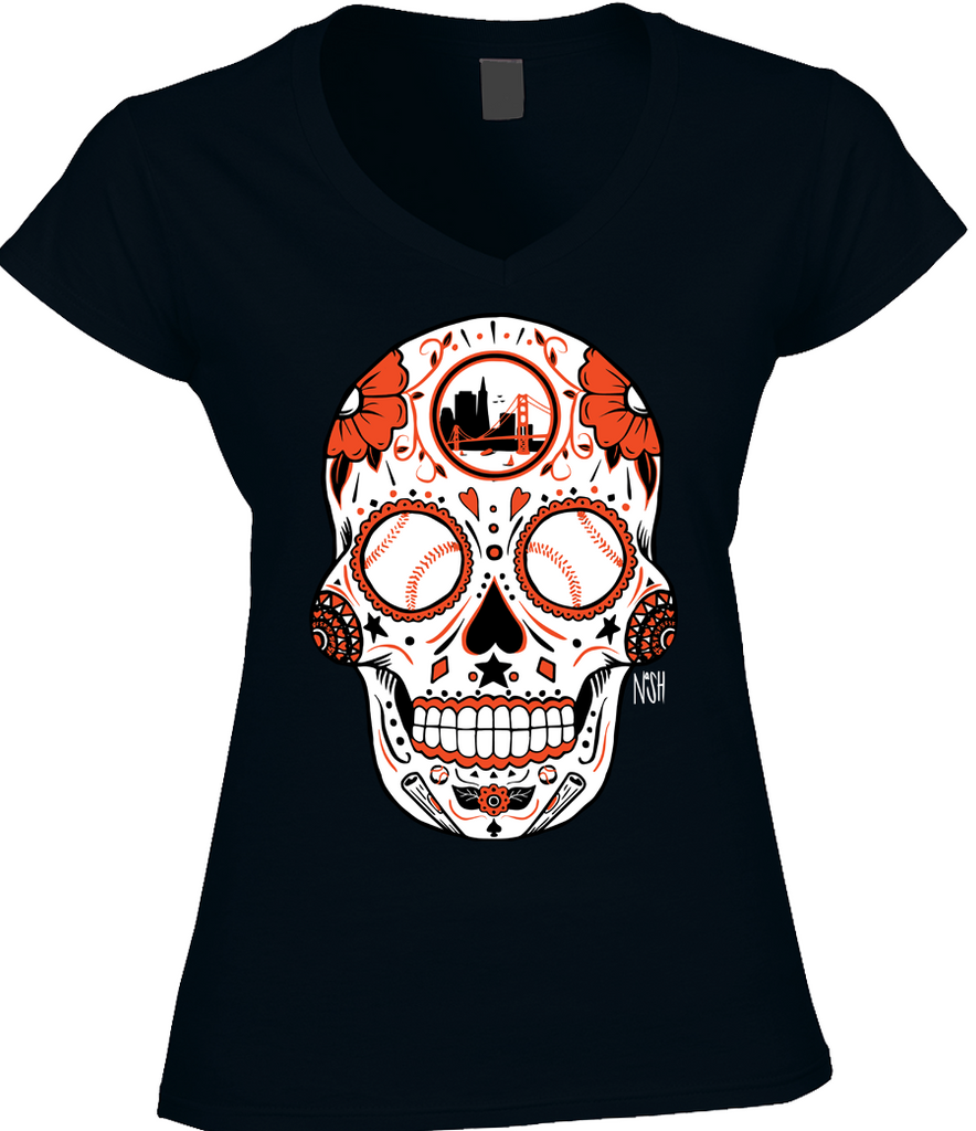San Francisco Baseball Sugar Skull - Bay Area