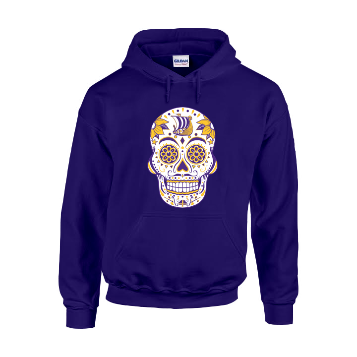 Minnesota Football Sugar Skull hoodie – America s Finest Apparel b78b441a3
