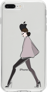 Fashion Girl Átlátszó iPhone Tok - TutiTartozék