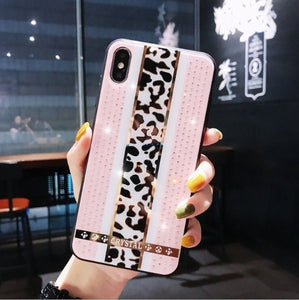 Leopard print Diamond iPhone tok - TutiTartozék