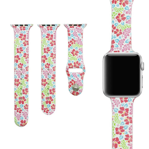 Tavaszi Virágesős Apple Watch Szíj 38mm 42mm