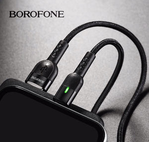 Borofone BU17 Starlight Smart Power Off Micro USB Android Kábel Piros