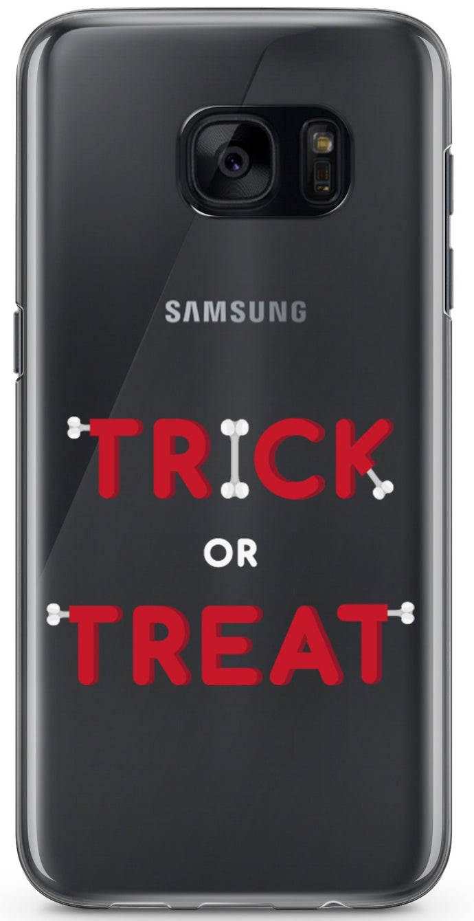 Trick or Treat Halloween Átlátszó Samsung Tok