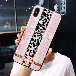 Leopard print Diamond iPhone tok