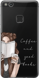 COFFEE AND BOOKS -  Átlátszó Huawei Tok