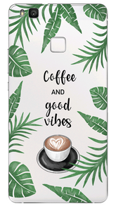 COFFEE AND GOOD VIBES - Átlátszó Huawei Tok