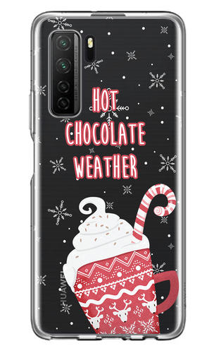 Hot Chocolate Weather Átlátszó Huawei Tok