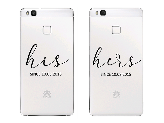 HIS/HERS WITH DATE - Páros 2DB Huawei Tok - TutiTartozék