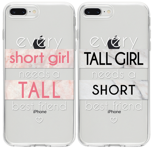 Short Girl - Tall Girl  BFF Páros 2DB iPhone Tok - TutiTartozék