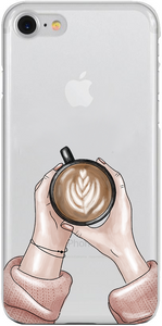 LATTE LOVER - Átlátszó iPhone Tok