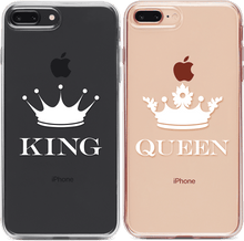 Letisztult King - Queen Páros 2DB iPhone Tok