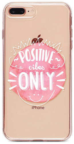 Positive Vibes Only Átlátszó iPhone Tok