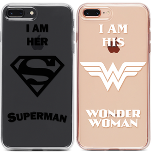 Superman Wonder Woman Páros 2DB iPhone Tok - TutiTartozék