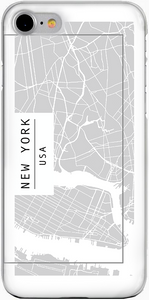 NEW YORK - Térképes iPhone Tok