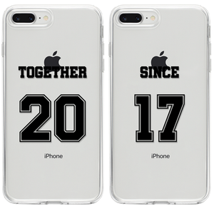 Together Since 2017 Páros 2DB iPhone Tok - TutiTartozék