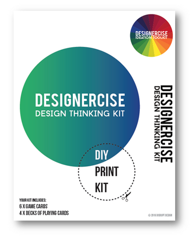 Designercise Design Thinking Kit DIY PRINT & PLAY