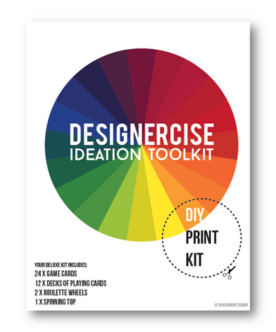 Designercise Deluxe Ideation Toolkit DIY PRINT & PLAY