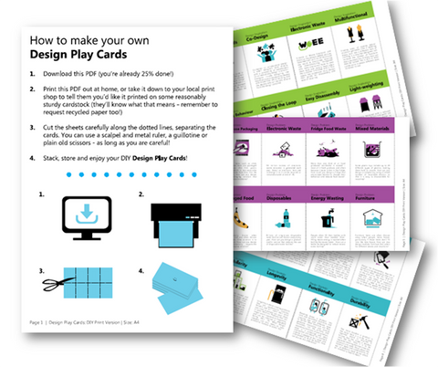 Design Play Cards DIY Print & Play SPANISH PDF