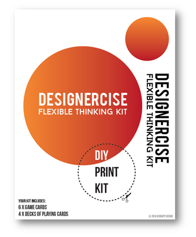 Designercise Flexible Thinking Kit  DIY PRINT & PLAY
