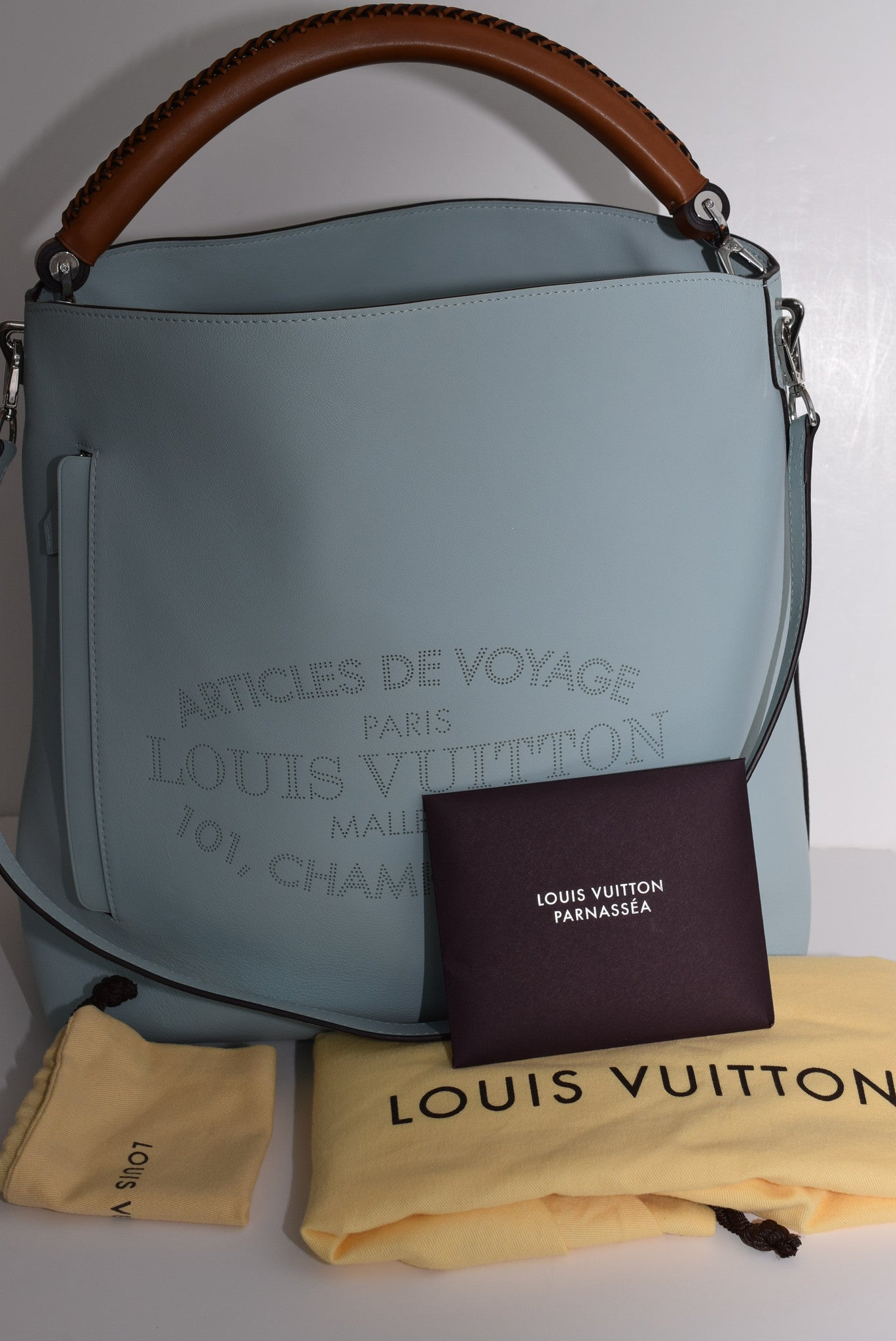22bf28f1bc5b LOUIS VUITTON Bagatelle In Azur - Made In France Shoulder Bag - Timeless  Gallery