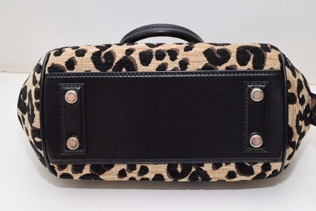 "LOUIS VUITTON 2012/ 2013 Collection ""baby"" M94257- Made In France Leopard And Black Satchel"