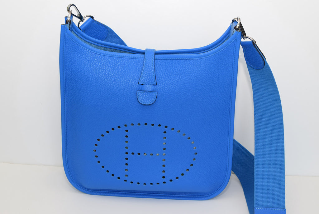 HERMÈS Evelyne III PM Bag Hydra Blue