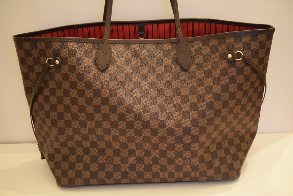 LOUIS VUITTON Brand New 2016! With Receipts Neverfull Gm (largest) In With Cherry Lining. Shoulder Bag