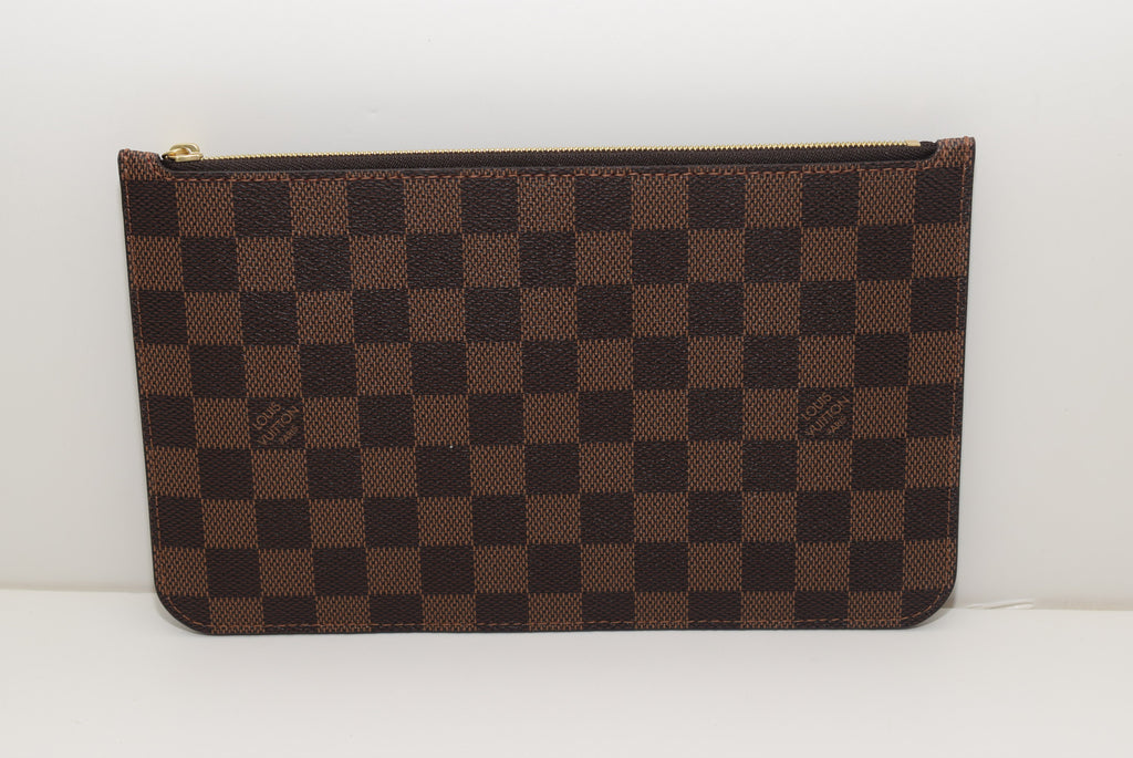 Louis Vuitton Pochette Wristlet in Damier Ebene - Made in France FL1156