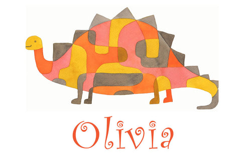 Baby Dinosaur Print personalized with Child's Name