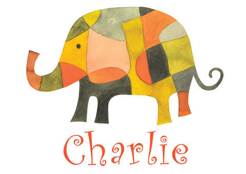 Elephant Print personalized with Child's Name