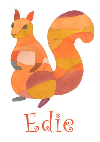 Squirrel Name Print