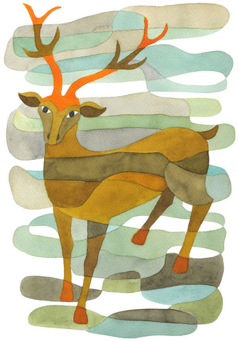 The Stag - Mid Century Modern Art Print
