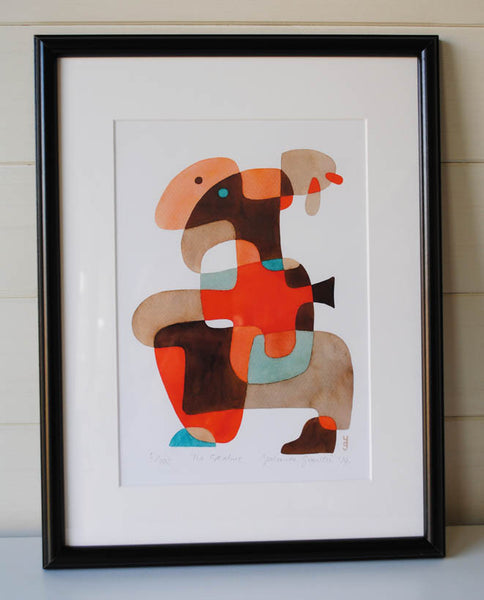 The Creature - Mid Century Modern Abstract Art Print