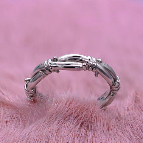 Thick Barbed Wire Eternity band