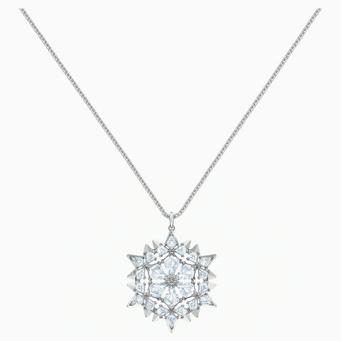 Swarovski MAGIC SNOW PENDANT, White, Rhodium Plated -5498960