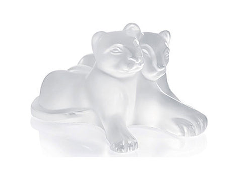 Lalique Crystal Figurine Sculpture TAMBEE LION CUBS #1166700