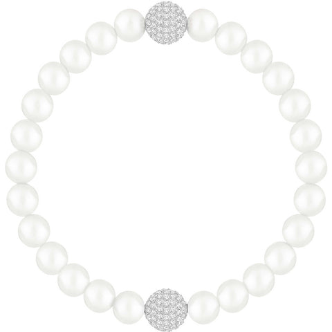Swarovski REMIX CRYSTAL PEARL STRAND, White, Medium -5365736