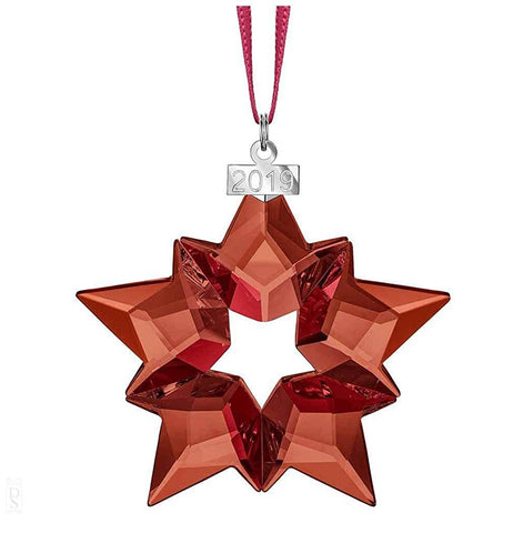 Swarovski Crystal Christmas Large STAR Ornament 2019, Red -5476021