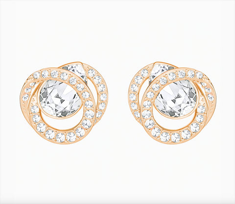 Swarovski Jewelry GENERATION PIERCED EARRINGS, Rose Gold -5289032