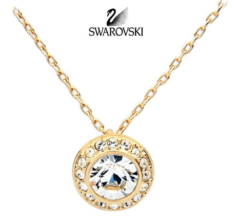 Swarovski Crystal Gold Necklace Pendant ANGELIC # 1081937 New - Zhannel  - 1
