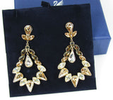 $150 Swarovski Color Crystal Pierced Earrings ALABASTER AUGUST #5037586 - Zhannel  - 4
